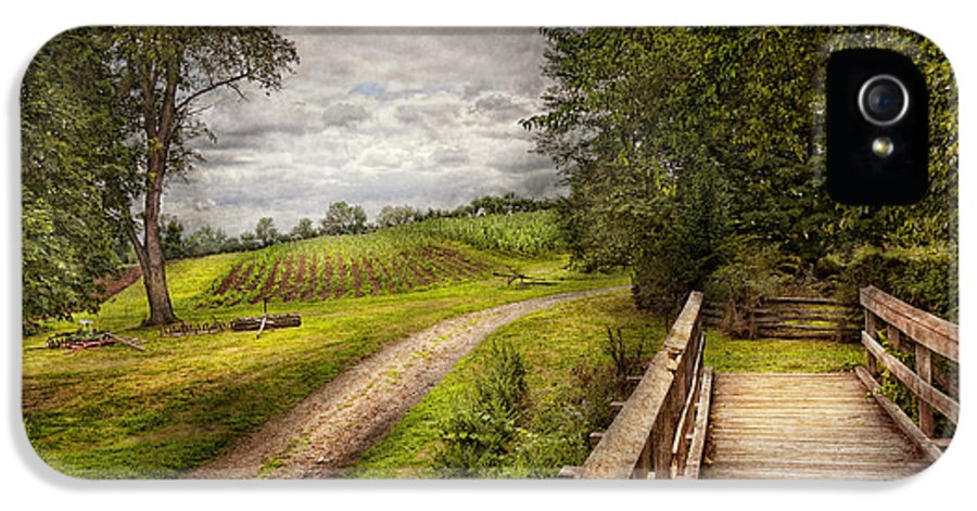 Savad IPhone 5 / 5s Case featuring the photograph Farm - Landscape - Jersey Crops by Mike Savad