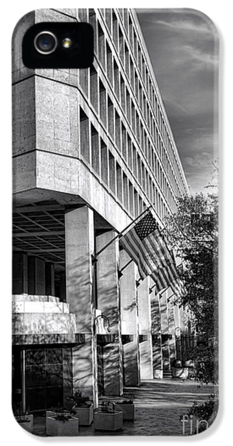 Fbi IPhone 5 / 5s Case featuring the photograph Fbi Building Modern Fortress by Olivier Le Queinec