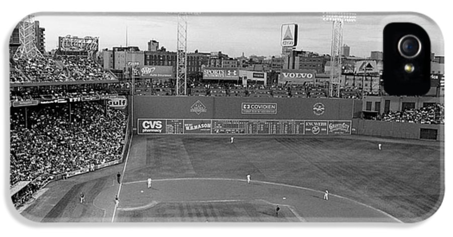 Fenway Park IPhone 5 / 5s Case featuring the photograph Fenway Park Photo - Black And White by Horsch Gallery