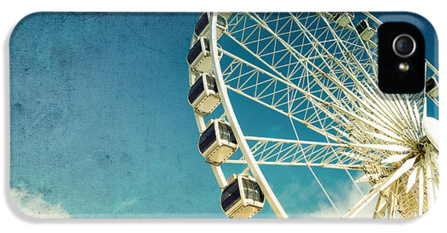 Wheel IPhone 5 / 5s Case featuring the photograph Ferris Wheel Retro by Jane Rix