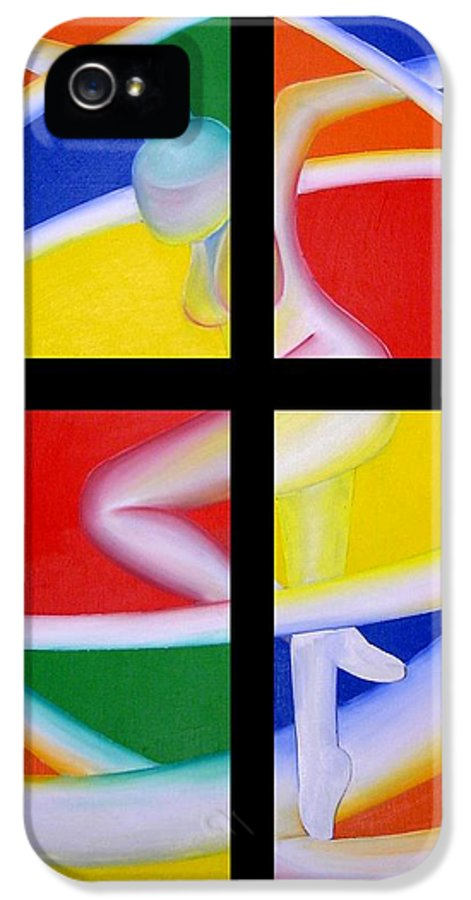 Firedancer IPhone 5 / 5s Case featuring the painting Firedancer by Joshua Morton