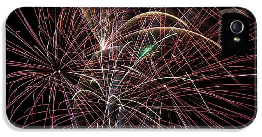 Fireworks IPhone 5 / 5s Case featuring the photograph Firework Trails by Jason Meyer