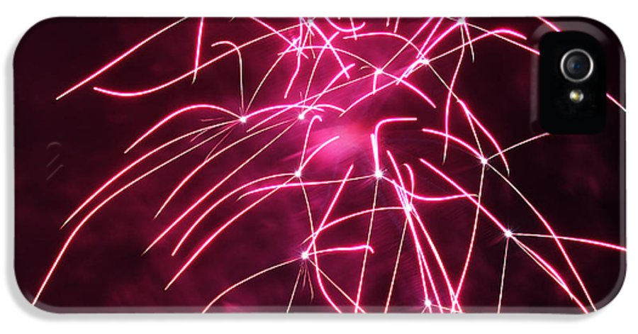 Night IPhone 5 / 5s Case featuring the photograph Rockets Red Glare Fireworks by Howard Tenke