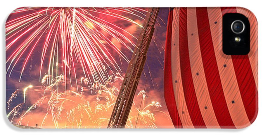 4th IPhone 5 / 5s Case featuring the photograph Fireworks by Jim DeLillo