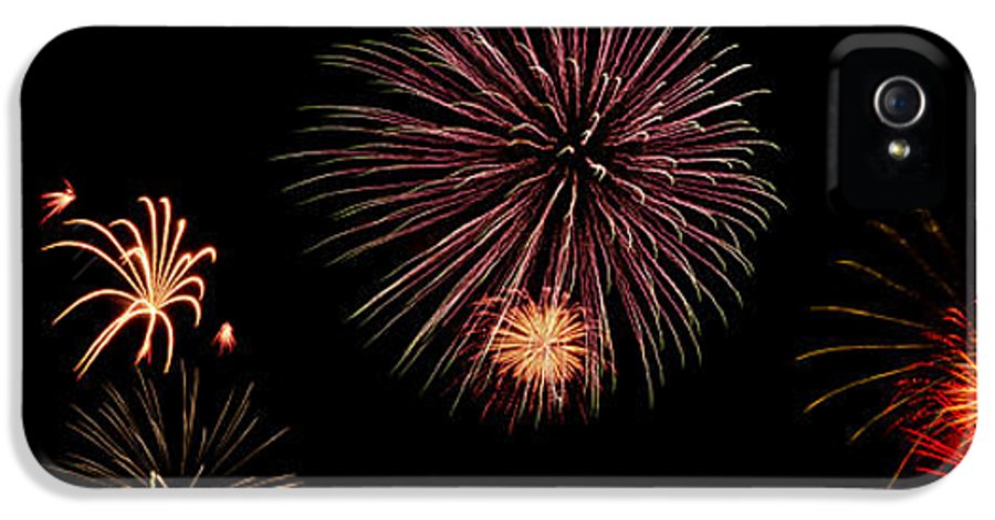 Fireworks IPhone 5 / 5s Case featuring the photograph Fireworks Panorama by Bill Cannon