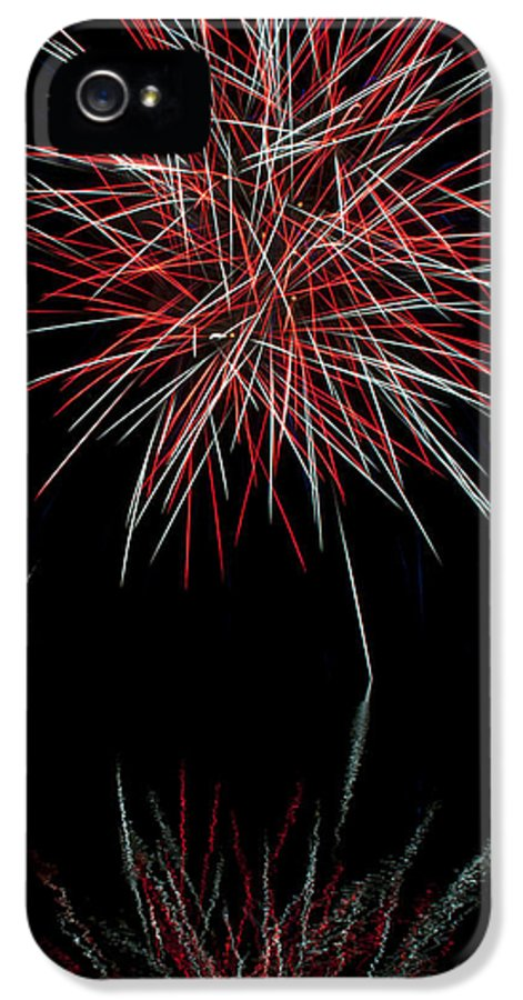 Fireworks IPhone 5 / 5s Case featuring the photograph Fireworks Rockets Red Glare by Christina Rollo