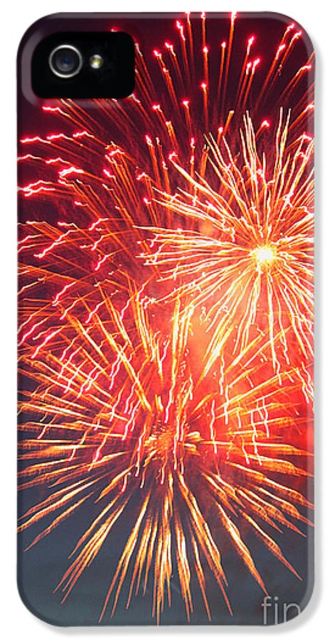 Fireworks IPhone 5 / 5s Case featuring the photograph Fireworks Series II by Suzanne Gaff