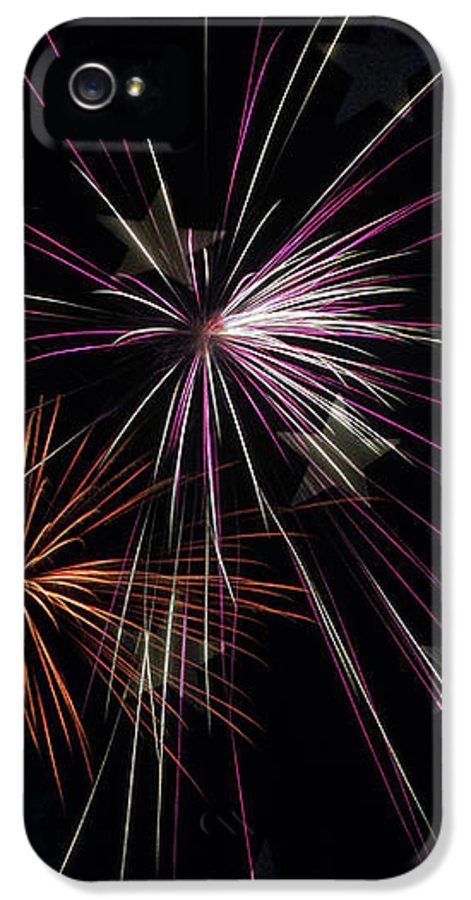 Fireworks IPhone 5 / 5s Case featuring the photograph Fireworks With Pride by Christina Rollo