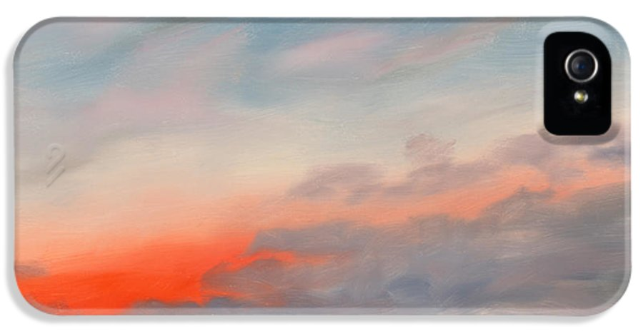 Skyscape IPhone 5 / 5s Case featuring the painting First Inaugural Sunrise From Iwo Jima Memorial by William Van Doren