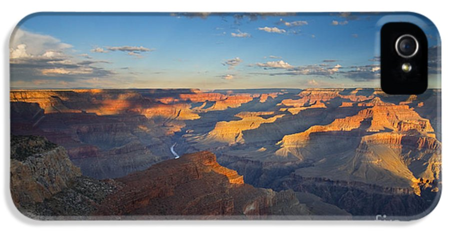 Grand Canyon IPhone 5 / 5s Case featuring the photograph First Light On The Colorado by Mike Dawson