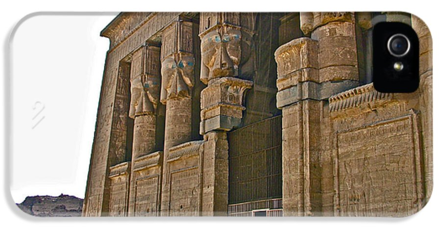 Five Thousand Year Old Temple Of Hathor In Dendera Egypt IPhone 5 / 5s Case featuring the photograph Five Thousand Year Old Temple Of Hathor In Dendera- Egypt by Ruth Hager