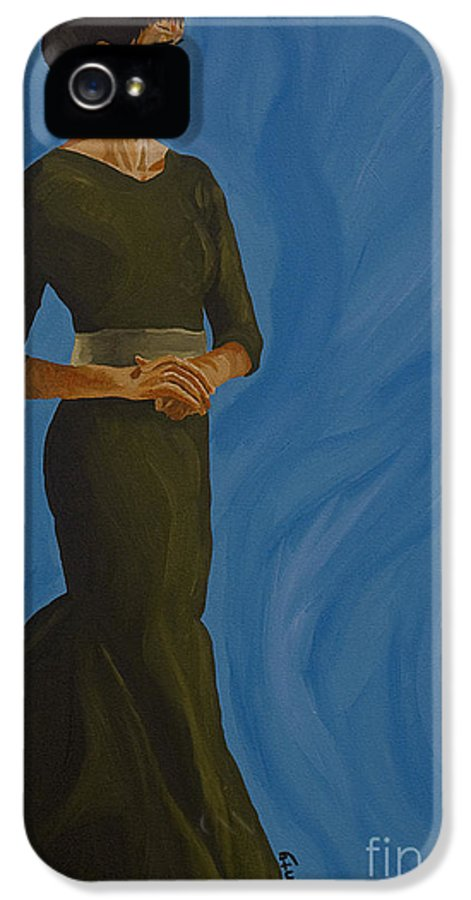 Floutus IPhone 5 / 5s Case featuring the painting Flotus by Cindy P Canty
