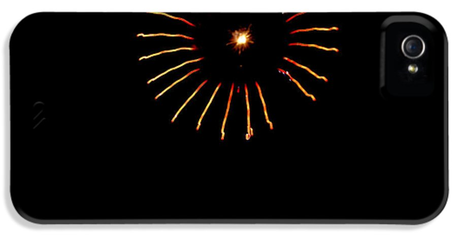 Fireworks IPhone 5 / 5s Case featuring the photograph Flower Fireworks by Robert Bales