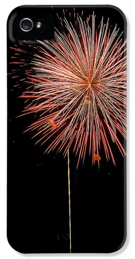 Fireworks IPhone 5 / 5s Case featuring the photograph Fluffy Red Ball by Devinder Sangha