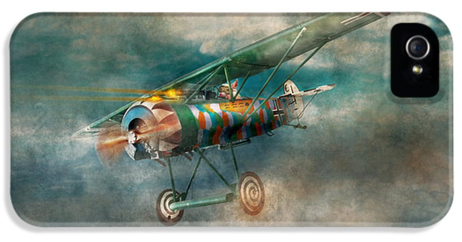 Wwi IPhone 5 / 5s Case featuring the digital art Flying Pig - Acts Of A Pig by Mike Savad