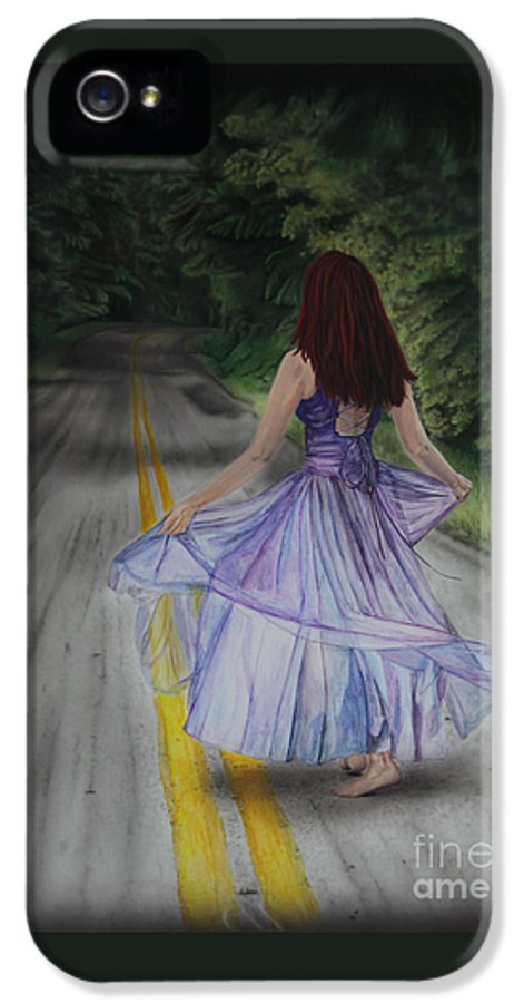 Jackie Mestrom IPhone 5 / 5s Case featuring the painting Follow Your Path by Jackie Mestrom