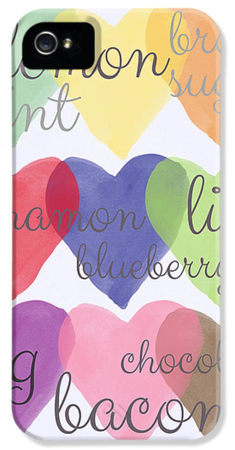 Love IPhone 5 / 5s Case featuring the painting Foodie Love by Linda Woods