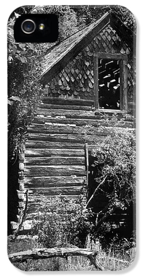 History IPhone 5 / 5s Case featuring the photograph Forgotten Log Cabin by Cindy Singleton