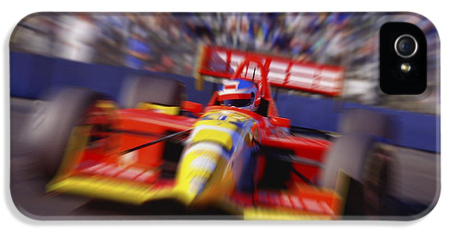 Automobile IPhone 5 / 5s Case featuring the photograph Formula Racing Car At Speed by Don Hammond