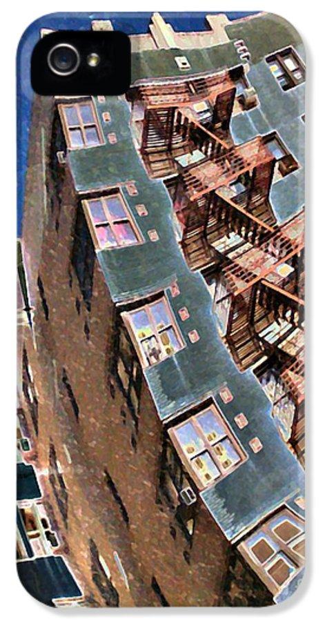 Building IPhone 5 / 5s Case featuring the photograph Fort Washington Avenue Building by Sarah Loft