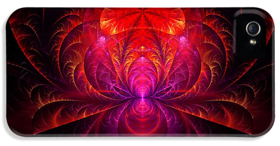 Abstract IPhone 5 / 5s Case featuring the digital art Fractal - Jewel Of The Nile by Mike Savad