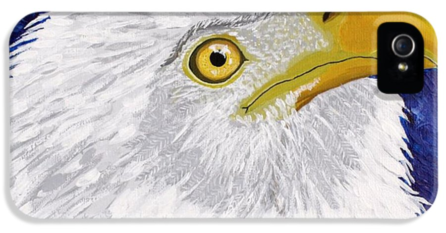 Eagle IPhone 5 / 5s Case featuring the painting Freedom's Hope by Vicki Maheu