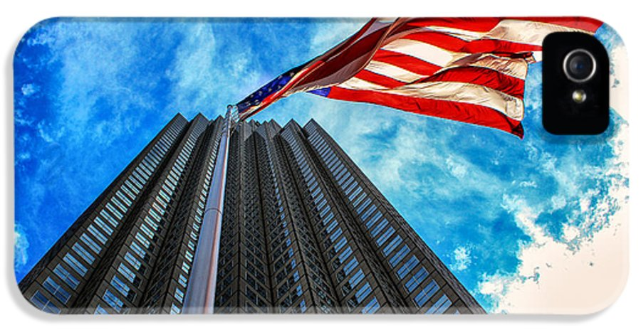 American Flag IPhone 5 / 5s Case featuring the photograph From A Different Perspective II by Rene Triay Photography