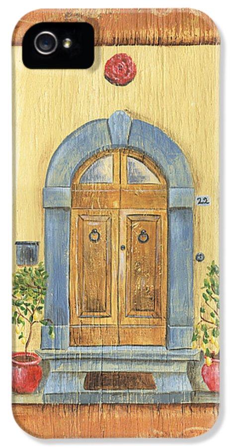 Front Door IPhone 5 / 5s Case featuring the painting Front Door 1 by Debbie DeWitt