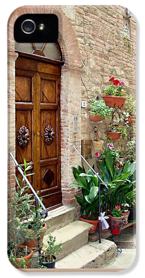 Front Door IPhone 5 / 5s Case featuring the photograph Front Door by Ellen Henneke