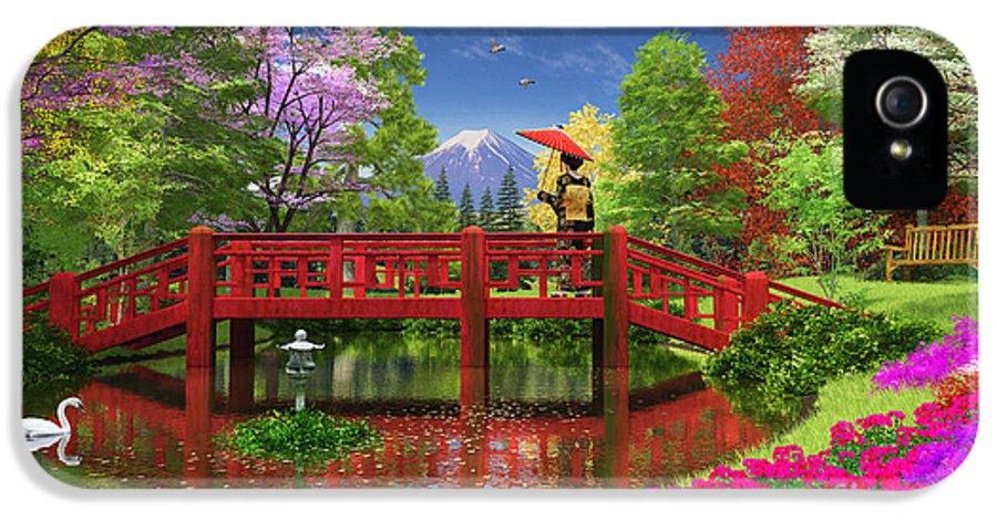Fuji IPhone 5 / 5s Case featuring the digital art Fuji Lake by Dominic Davison