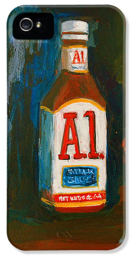 Acrylic IPhone 5 / 5s Case featuring the painting Full Flavored - A.1 Steak Sauce by Patricia Awapara