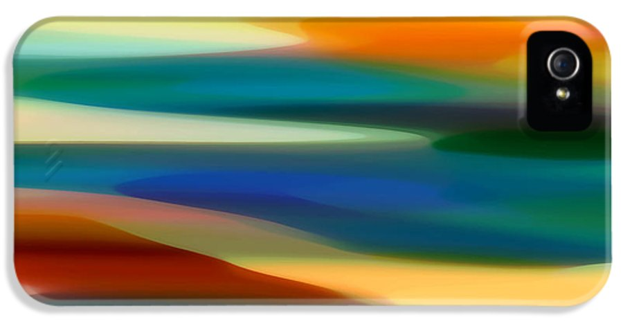 Fury IPhone 5 / 5s Case featuring the painting Fury Seascape 6 by Amy Vangsgard