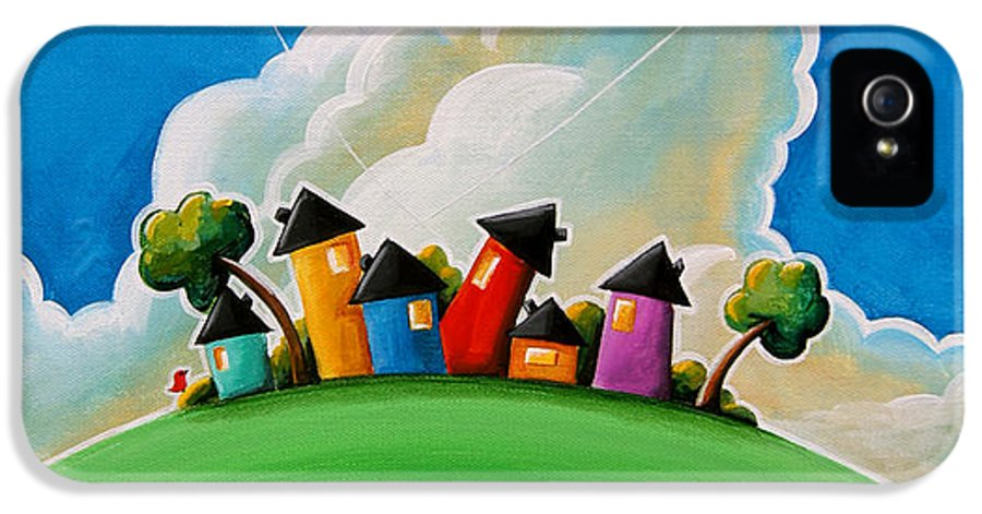 House IPhone 5 / 5s Case featuring the painting Gather Round by Cindy Thornton