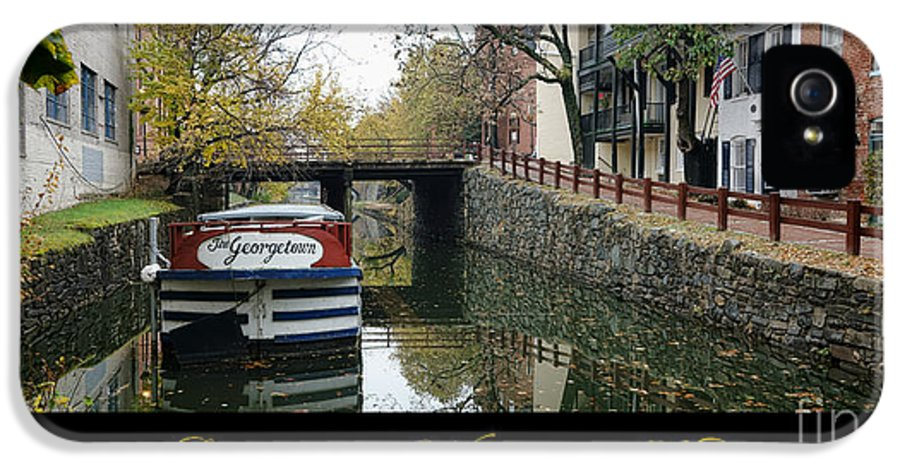 Washington IPhone 5 / 5s Case featuring the photograph Georgetown Canal Poster by Olivier Le Queinec