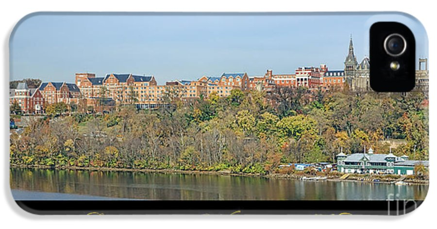 Washington IPhone 5 / 5s Case featuring the photograph Georgetown Poster by Olivier Le Queinec