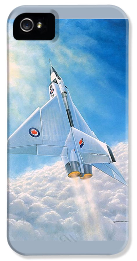 Avro Arrow IPhone 5 / 5s Case featuring the painting Ghost Flight Rl206 by Michael Swanson