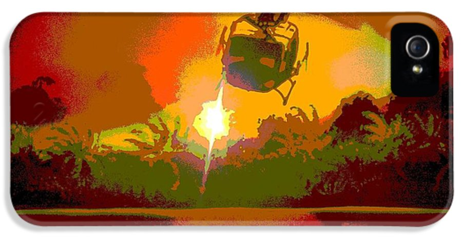 Vietnam IPhone 5 / 5s Case featuring the digital art Ghost Huey Apocalypse by William Gruendler