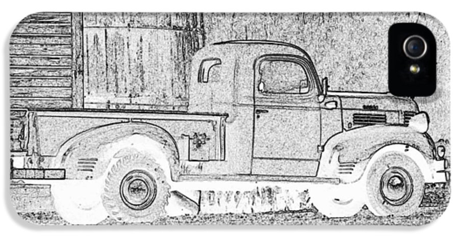 Truck IPhone 5 / 5s Case featuring the photograph Ghost Of A Truck by Jean Noren