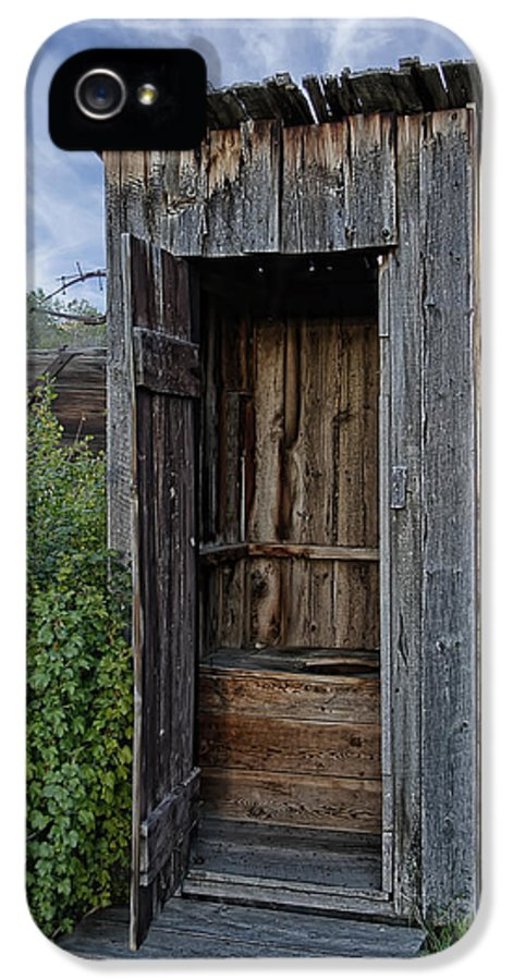 Outhouse IPhone 5 / 5s Case featuring the photograph Ghost Town Outhouse - Montana by Daniel Hagerman