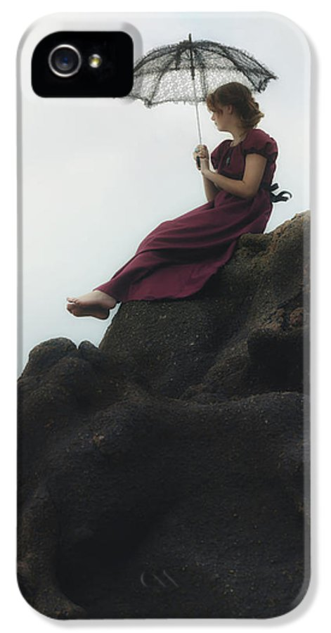 Girl IPhone 5 / 5s Case featuring the photograph Girl On A Rock by Joana Kruse