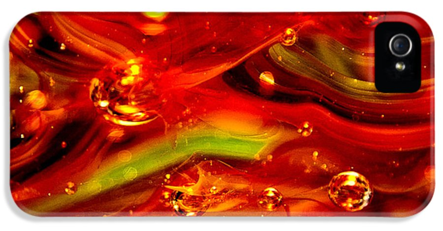 Glass IPhone 5 / 5s Case featuring the photograph Glass Macro Abstract Rf1ce by David Patterson