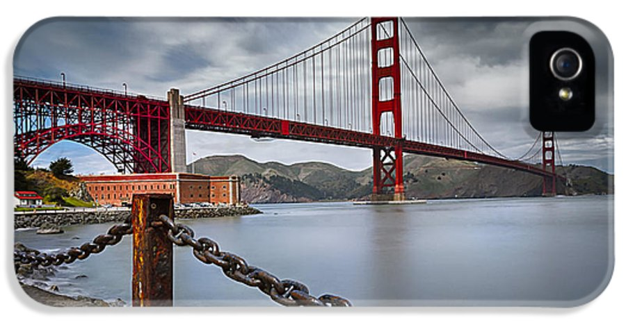 California IPhone 5 / 5s Case featuring the photograph Golden Gate Bridge by Eduard Moldoveanu