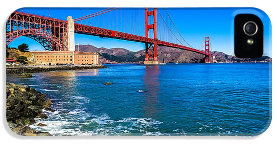 California IPhone 5 / 5s Case featuring the photograph Golden Gate Bridge San Francisco Bay by Scott McGuire