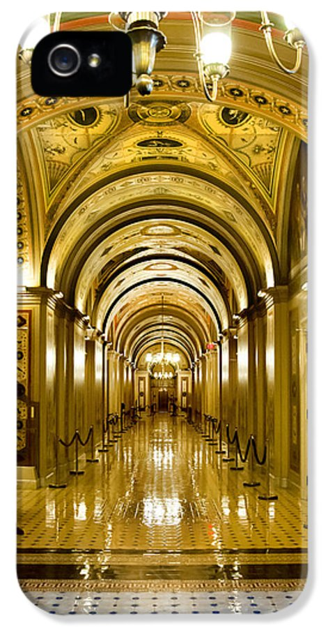 The Capitol IPhone 5 / 5s Case featuring the photograph Golden Government by Greg Fortier