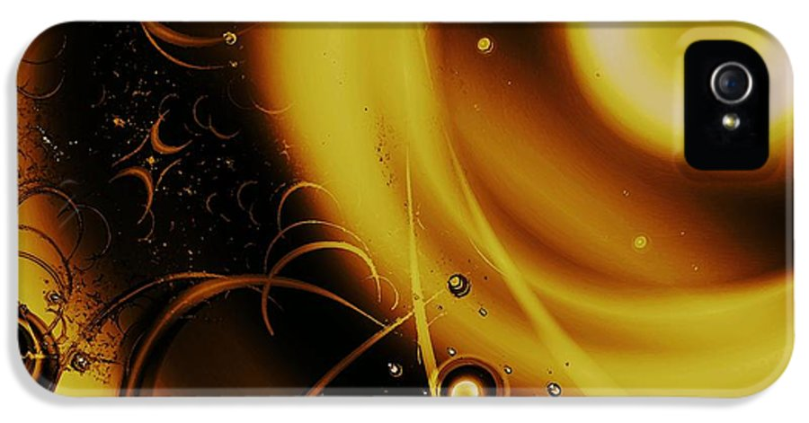 Malakhova IPhone 5 / 5s Case featuring the digital art Golden Halo by Anastasiya Malakhova