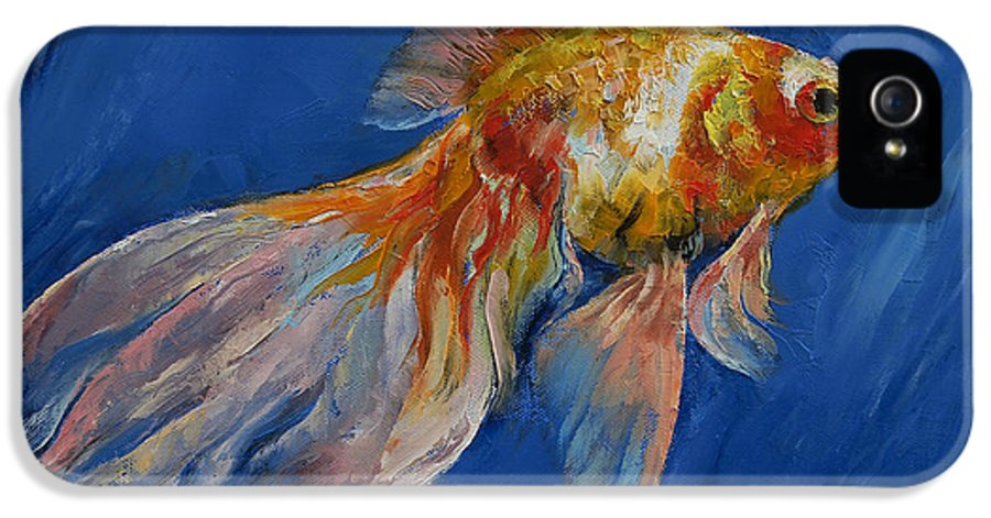 Goldfish IPhone 5 / 5s Case featuring the painting Goldfish by Michael Creese
