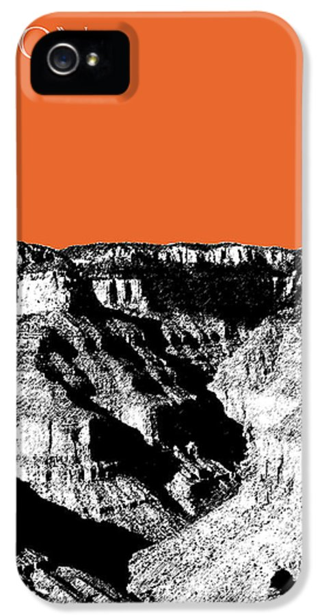Pen And Ink IPhone 5 / 5s Case featuring the digital art Grand Canyon - Coral by DB Artist