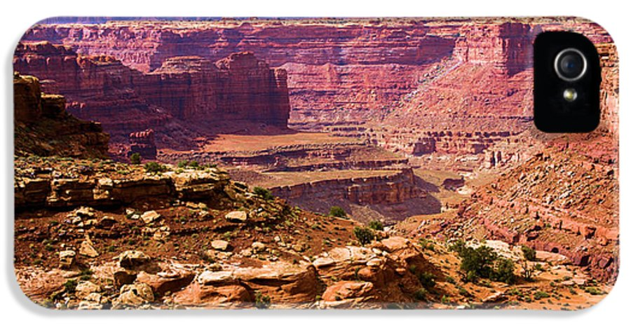 Slickrock Trail IPhone 5 / 5s Case featuring the photograph Grand Canyon Of Utah by Adam Jewell