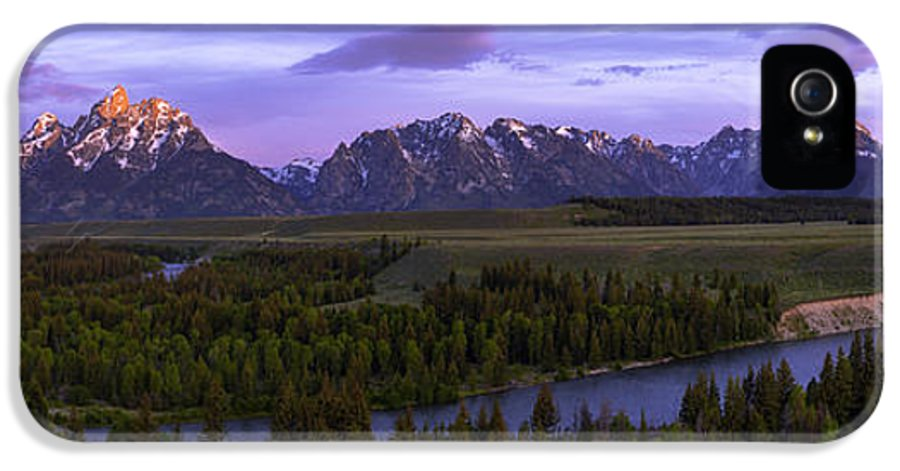 Grand Tetons IPhone 5 / 5s Case featuring the photograph Grand Tetons by Chad Dutson