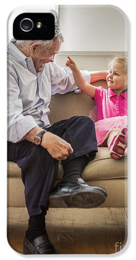 Grandpa IPhone 5 / 5s Case featuring the photograph Grandpa's Little Princess by Diane Diederich